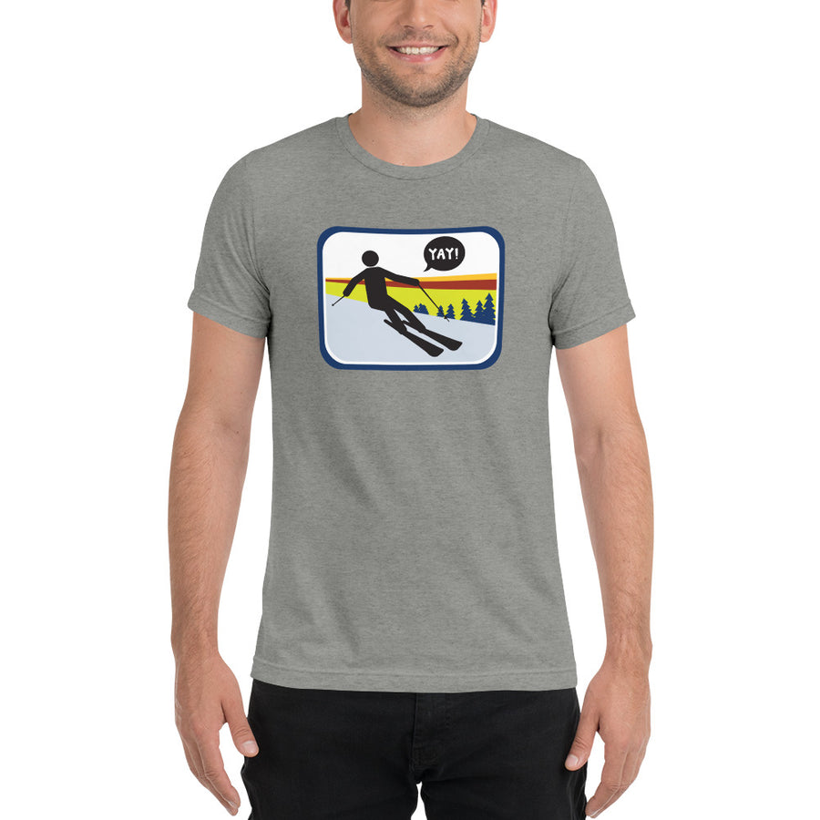 UNISEX PICTO SKIING Short sleeve t-shirt YAY T-SHIRTS