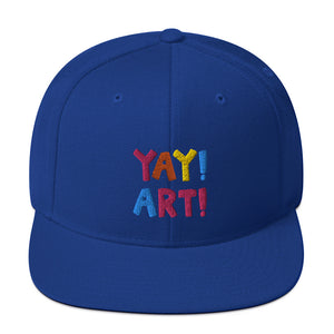 YAY! ART! multicolored embroidery Snapback Hat