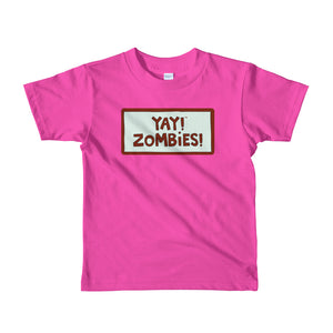 YAY! ZOMBIES! Short sleeve toddler t-shirt