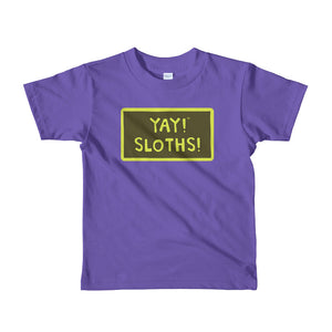 YAY! SLOTHS! Short sleeve toddler t-shirt