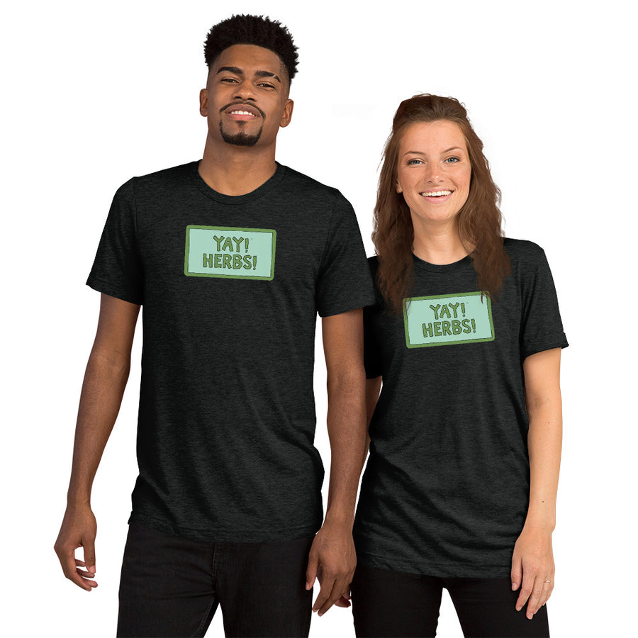 Unisex YAY! HERBS! Short sleeve t-shirt