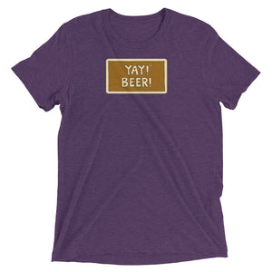 YAY! BEER! Unisex short sleeve t-shirt