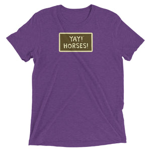 UNISEX YAY! HORSES! Short sleeve t-shirt