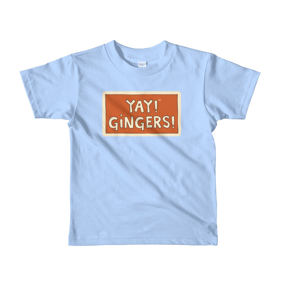 YAY! GINGERS! Short sleeve toddlers t-shirt