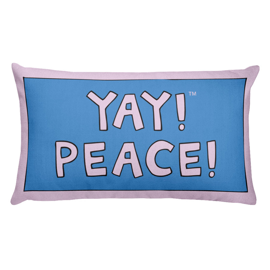 YAY! PEACE! Rectangular Pillow