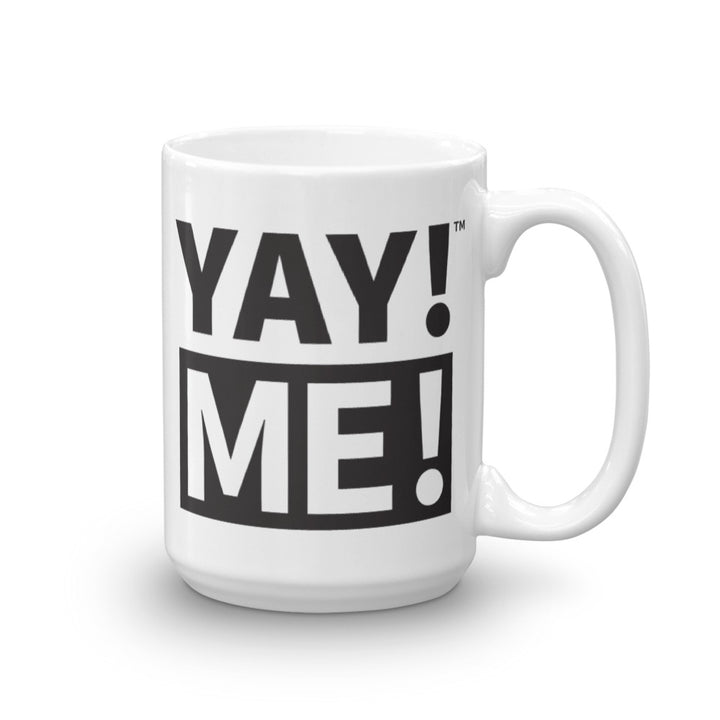 YAY! ME! Mug in black