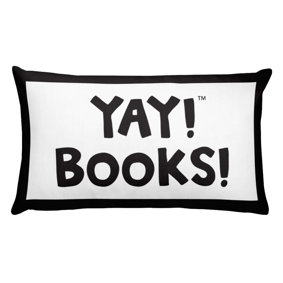 YAY! BOOKS! Throw Pillow