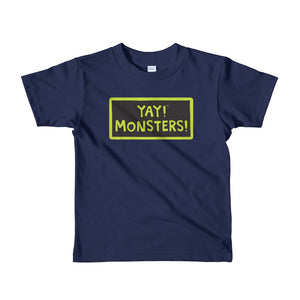 YAY! MONSTERS! Short sleeve toddler t-shirt