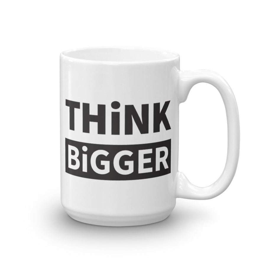 THINK BIGGER Mug in black