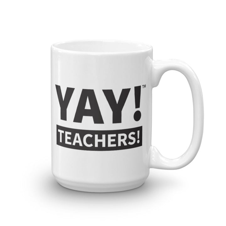 YAY! TEACHERS! Mug in black
