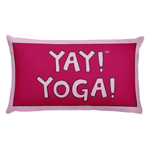 YAY! YOGA! Throw Pillow