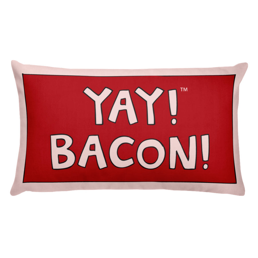 YAY! BACON! Throw Pillow