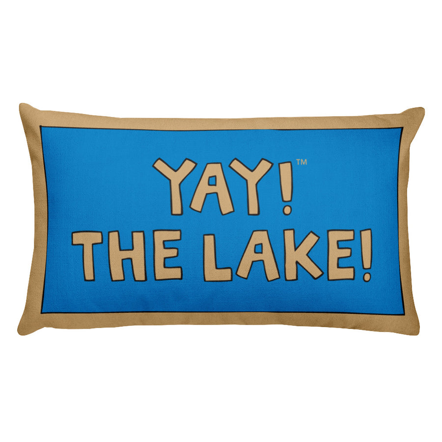 YAY! THE LAKE! Rectangular Pillow