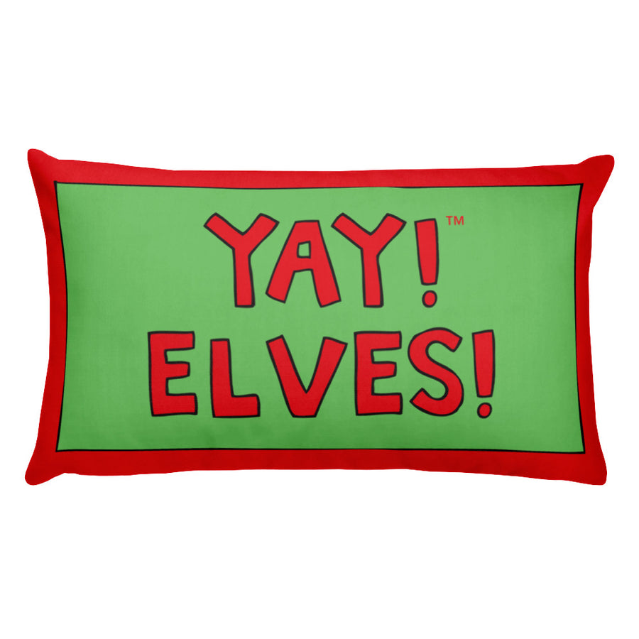 YAY! ELVES! Rectangular Pillow