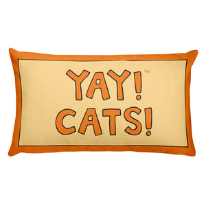 YAY! CATS! Rectangular Pillow