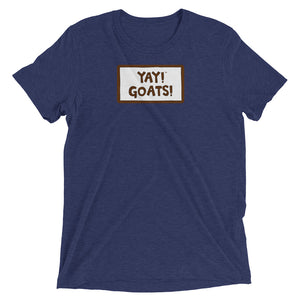 YAY! GOATS! Unisex short sleeve t-shirt