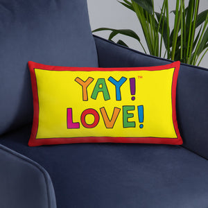 Multicolored YAY! LOVE! Pillow