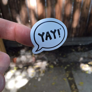 #yayitforward Mini YAY! Sticker