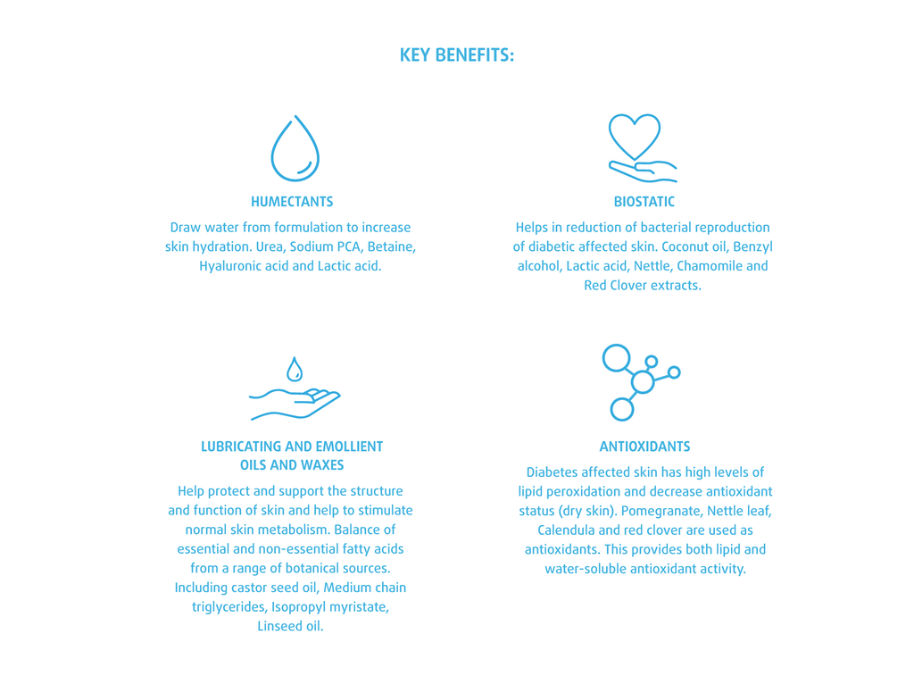 key benefits for diabetic foot care