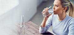 Drinking water helps with sufferers of psoriasis to add hydration to their skin