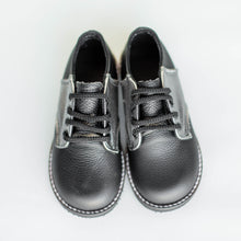 Load image into Gallery viewer, pewter and black saddle shoes