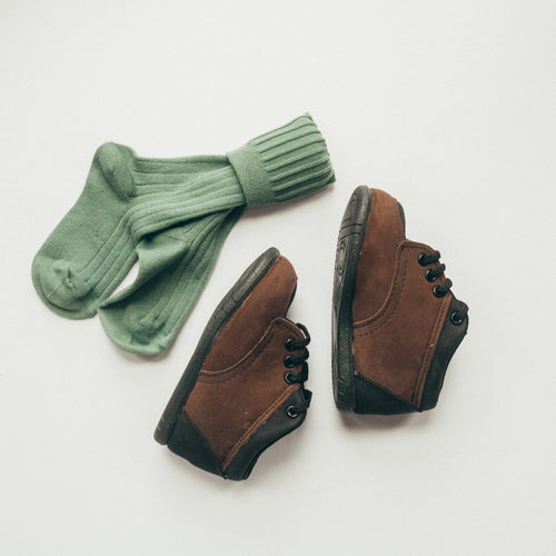 Little Hiker First Walker in Chocolate/Black Nubuck | Sizes 3-6