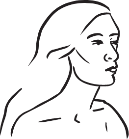 icon of a woman's face