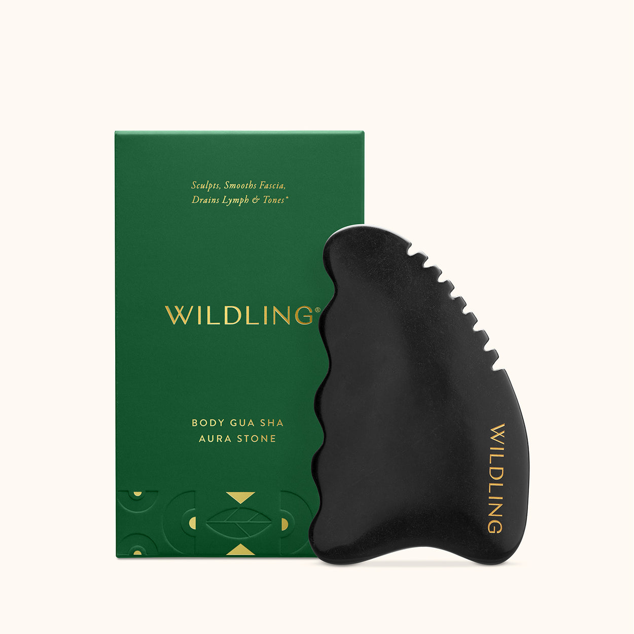 WLD-2106 Wildling Aura Stone for Body Gua Sha with box