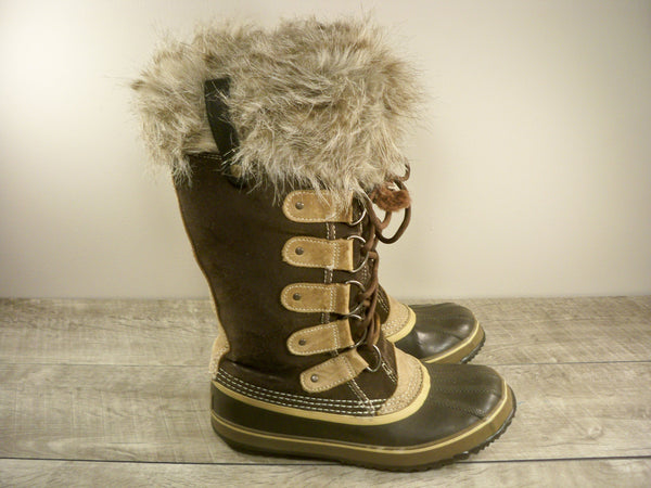 Sorel Joan of Arctic Women's Winter Snow Waterproof Leather FUR Boots NL2434 Size 8