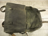 Vintage Army Canvas Pannier Satchel Musette Messenger Soldier Field Bag Pack