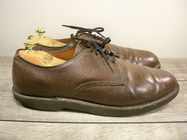 Vintage Union Made in USA Brown Leather Oxford Soft Toe Foreman Men's Shoes Size 12