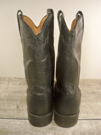 Ariat #35501 Men's Black Leather Heritage Western Roper Cowboy Boots Size 9.5