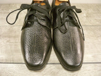New Old Stock Vintage Made in USA Black Leather Men's Shoes Oxfords Size 9.5