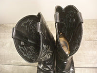 Justin Men's Black London Calf Leather Classic Western Cowboy Boots Size 11.5