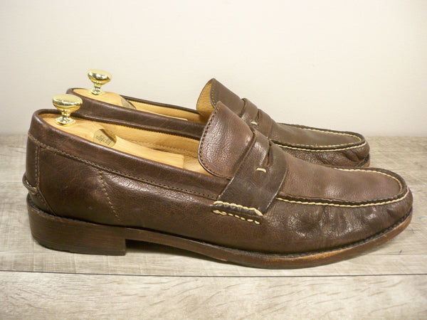Frye 80550 Otis Men's Brown Leather Penny Casual Loafers Slip On Shoes Size 13