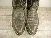 Vintage Imperial Leather 2-Tone Exotic Mens Cowboy Western Boots Size 9