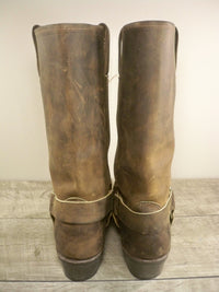 Frye 77300 Harness 12 R Brown Leather Men's Motorcycle Engineer Soft Toe Boots Size 7.5
