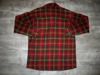 Vintage Pendleton Knockabout Shirt Virgin Wool Classic Plaid Flannel Men's Size Medium