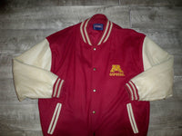 Minnesota Gophers Vintage Champs NCAA Embroidered Bomber Leather Jacket Men's Size XL