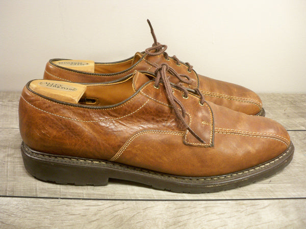 Allen Edmonds Mapleton Brown Leather Dress Oxfords Lace Up Men's Shoes Made in the USA Size 12