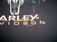 Vintage 1997 HARLEY-DAVIDSON MOTORCYCLES T-shirt Bad To The Bone Duluth, MN 90s Size Large
