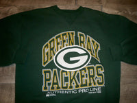 Vintage 90s Green Bay Packers Russell Athletic BIG LOGO Sweatshirt Size Large
