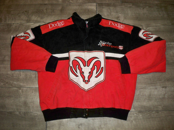 Vintage Racing Champions Apparel Dodge Motorsports Race Car Men's Jacket Coat Size Large