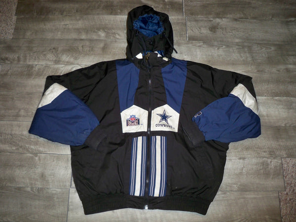 Vintage Pro Player Men's Pro Player Dallas Cowboys Star Reversible Jacket NFL Size XL