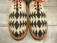 Well Bred Aztec Wool Blanket Men's Traction Tred Crepe Lace Up Shoes Size 11