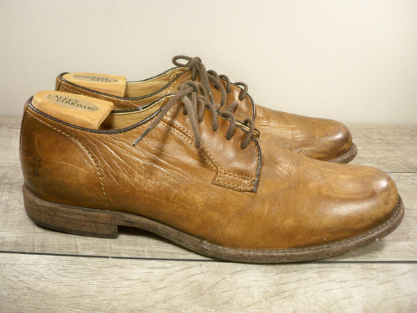 Frye 84570 Phillip Brown Leather Oxfords Lace Up Casual Men's Shoes Size 10.5