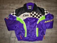 Vintage Arctic Cat ZR 2-In-1 Snowmobile Sled Insulated Womens Jacket Coat Size XL
