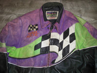 Vintage Arctic Cat Snowmobile Indy Racing Sled Leather Jacket Coat Men's Size Large