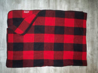 Vintage Marlboro Country Store Red Buffalo Plaid Wool Blanket Made in USA Advertising