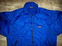 Patagonia Vintage Blue Jacket Men's Fleece Lined Coat Made in USA Size Medium